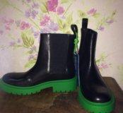 Ботинки кожаные Kenzo + h&m