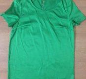Блуза изумрудного цвета