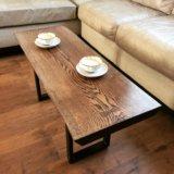 Кофейный столик из цельного слэба дуба