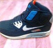 Кроссовки зимние Nike(кожа, замш)см фото