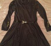 Платье чёрное короткое, р-р 40-42