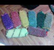Вязание мочалки
