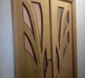 Двустворчатая межкомнатная дверь б/у