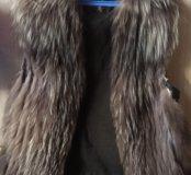 Жилет чернобурка