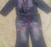 Джинсовый костюм 88 см