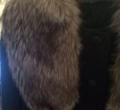 Зимнее пальто (шерсть и натуральный мех)