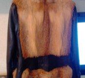Куртка. Кожа, мех лиса.