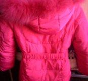 Куртка зимняя для девочки рост 122 см.