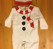 Костюм снеговика mothercare новый р-р 74 см