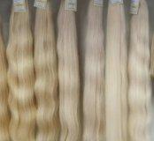 Волосы для наращивания блонд в срезе