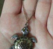 Цепочка с подвеской черепаха