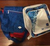 сумка и рюкзак с олимпийской символикой.
