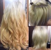 Наращивание волос славянка люкс!