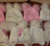 новые зимние детские шапочки