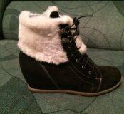 Ботинки зимние, женские (сникерсы)