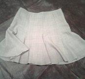 Короткая кокетливая юбка клеш