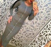 Платье в мелкую вязку