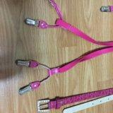 Розовые подтяжки