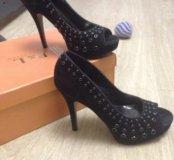 Босоножки туфли чёрные