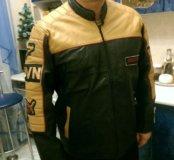 Куртка мужская, кожаная,, спортивная.
