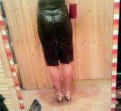 Кожаная юбка-карандаш TopShop