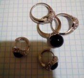 Бижутерия, кольцо и серьги