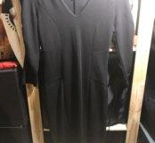 Черное теплое платье Naf-Naf