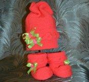 Вязанные шапочки/пинетки для малышей