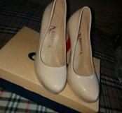 Туфли молочно-бежевые