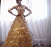 Свадебное платье с корсетом (S-M)