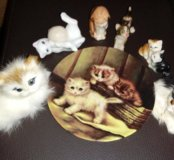 Керамические фигурки кошек