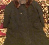 Зимнее женское пальто для широких людей