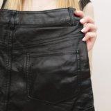 Кожаные шорты шортики черные женские XS