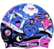 Детская шапочка для плавания Madwave Buble Cards