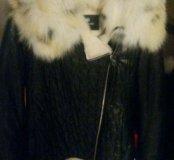Куртка кожанная на мутоне