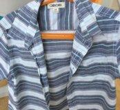Рубашка на мальчика с коротким рукавом , ращмер s/