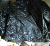 Кожаная мужская куртка.кожа настоящая.