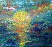"""Картина маслом """"Закат во сне"""" 60×80"""