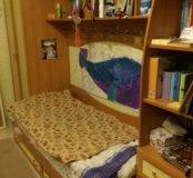Детская кровать со шкафом (ЖЕЛТЫЙ, СИНИЙ)