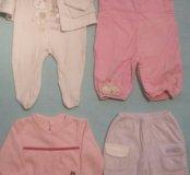 Одежда для девочки 3-6 мес (пакет)