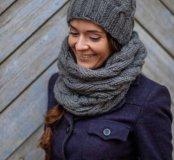 Вязаные шапки, шарфы, снуды, варежки ручной работы