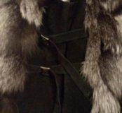 Чернобурка жилетка