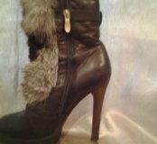 Ботиночки кожаные на каблуке