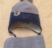 Комплект Pupill шапка и шарф зимние