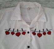 Рубашка с вышивкой 44р