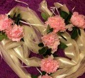 Свадебные ленты на капот