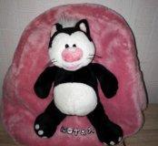 Рюкзак розовый с котом