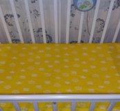 Простынка на резинке в детскую кроватку 120×60