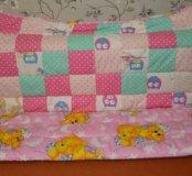 Лоскутное  зимнее одеялко 110×140