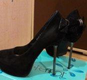 Туфли замшевые 39р